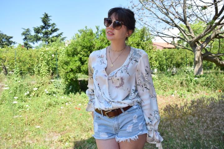 look flower shirt 053