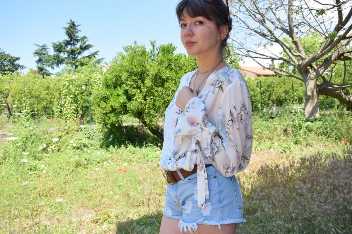 look flower shirt 056
