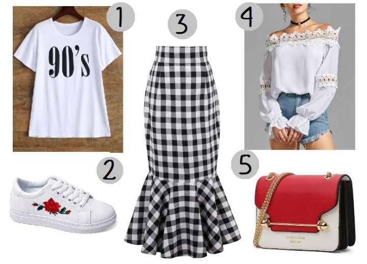mid skirt gingham look