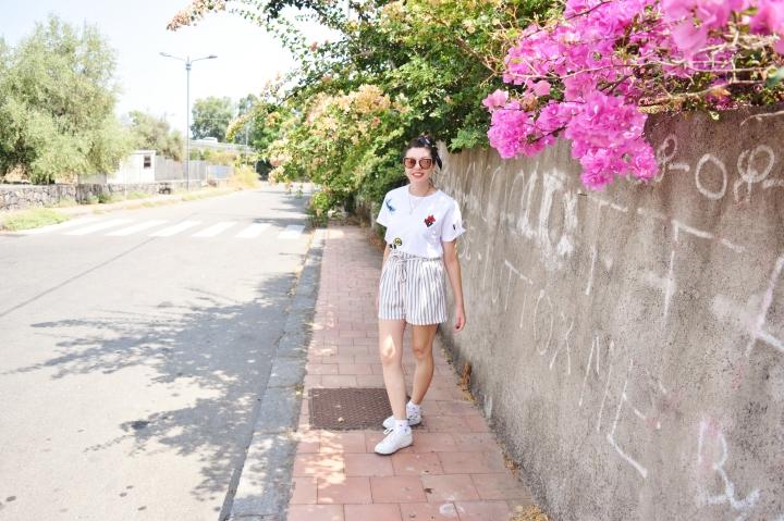Look short rayé 003