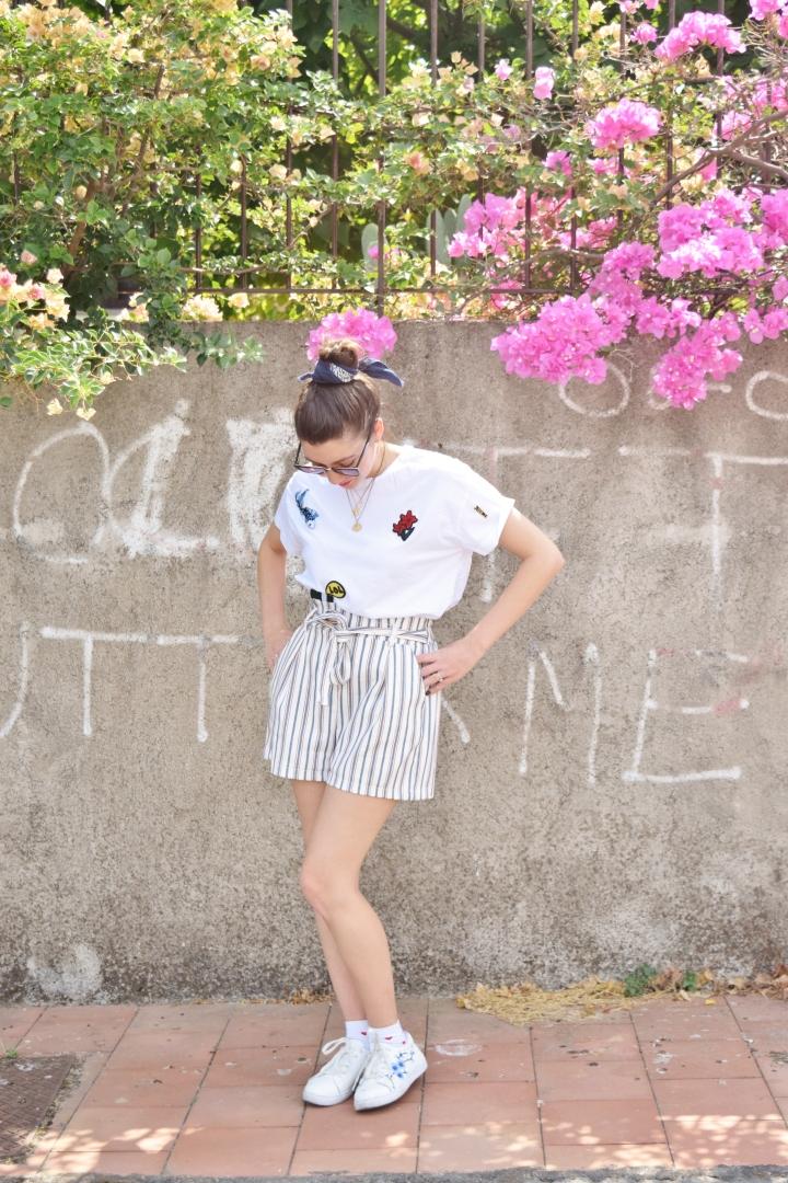 Look short rayé 020