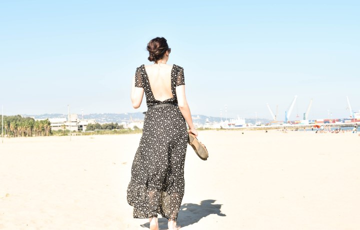 The long Star print dress