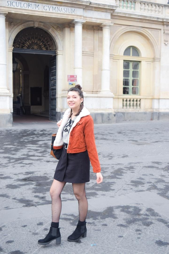 Mini skirt and Corduroyjacket